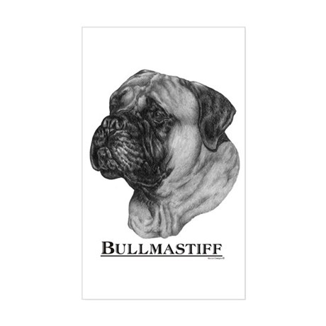 Bullmastiff Dog Breed Rectangle Sticker