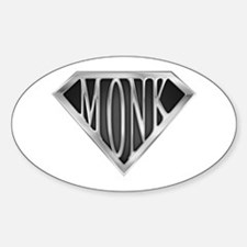 SuperMonk(metal) Oval Decal
