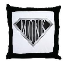 SuperMonk(metal) Throw Pillow