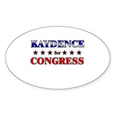 KAYDENCE for congress Oval Decal
