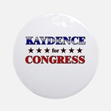 KAYDENCE for congress Ornament (Round)