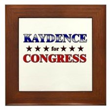 KAYDENCE for congress Framed Tile