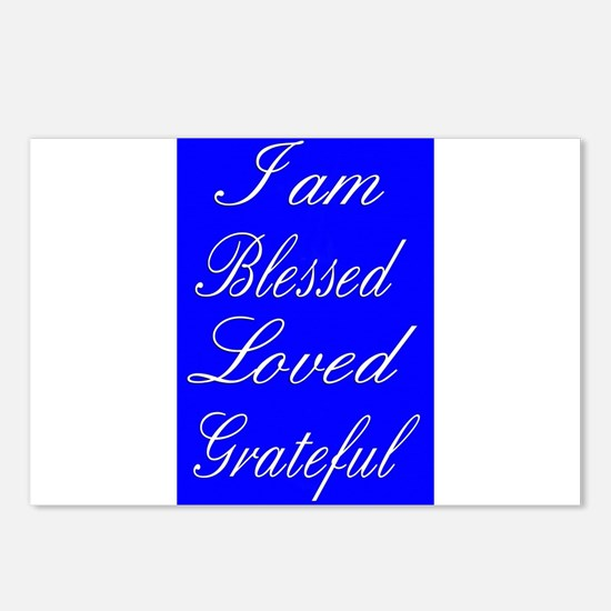 I am Blessed Loved Greatf Postcards (Package of 8)