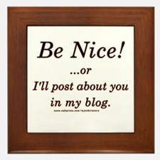Funny Blogger Joke  Framed Tile
