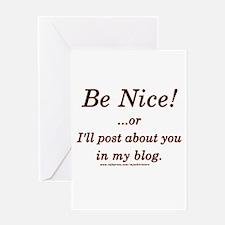 Funny Blogger Joke Greeting Card