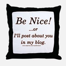 Funny Blogger Joke  Throw Pillow