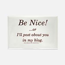 Funny Blogger Joke Rectangle Magnet