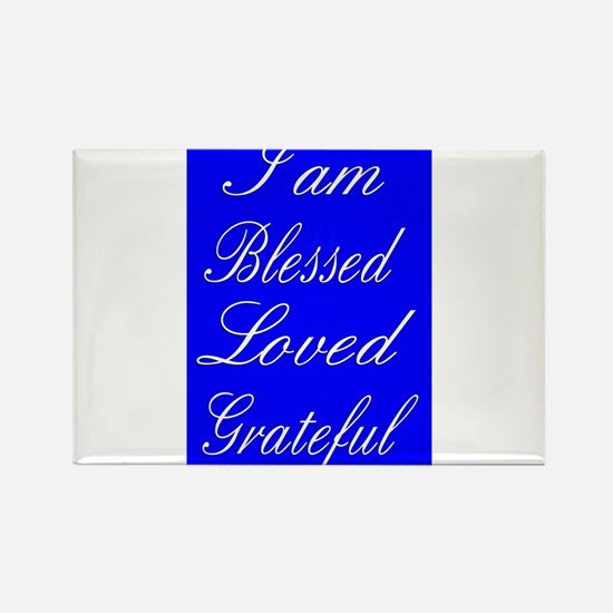 I am Blessed Loved Greatful Magnets