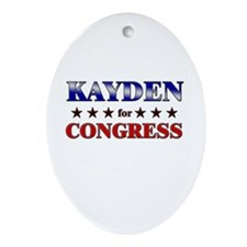 KAYDEN for congress Oval Ornament