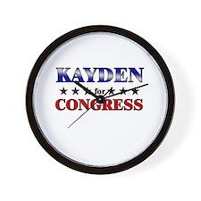 KAYDEN for congress Wall Clock