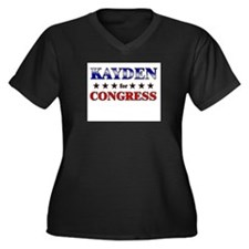 KAYDEN for congress Women's Plus Size V-Neck Dark