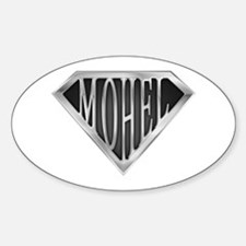 SuperMohel(metal) Oval Decal