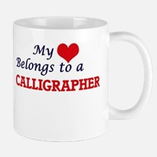 My heart belongs to a Calligrapher Mugs