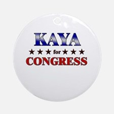 KAYA for congress Ornament (Round)