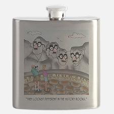 Mount Rushmore Cartoon 9360 Flask