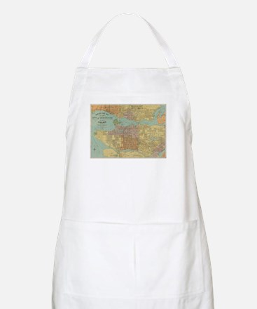 Vintage Map of Vancouver Canada (1920) Apron