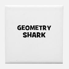 Geometry Shark Tile Coaster