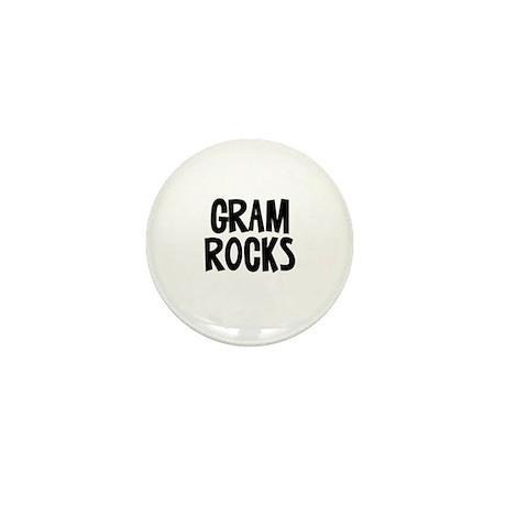 Gram Rocks Mini Button
