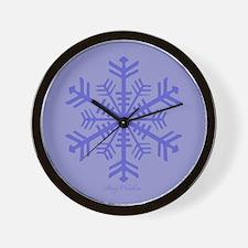 Lavender Holiday Wall Clock