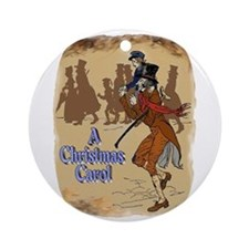 Tiny Tim and Bob Cratchit Ornament (Round)