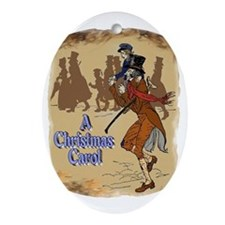 Tiny Tim and Bob Cratchit Oval Ornament