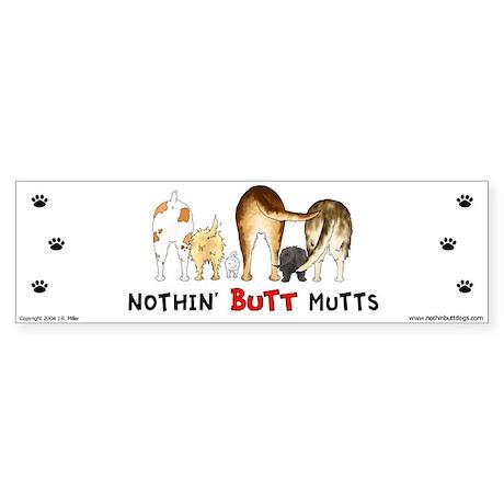 Dog Mutts (Mixed Breeds) Bumper Sticker