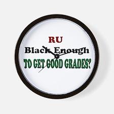 RU Black Enough Wall Clock