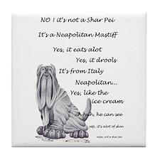 Neapolitan Mastiff Tile Coaster