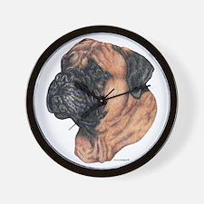 Bullmastiff Dog Portrait Wall Clock