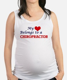 My heart belongs to a Chiroprac Maternity Tank Top