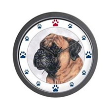 Bullmastiff Dog Paws Wall Clock