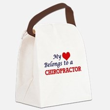 My heart belongs to a Chiropracto Canvas Lunch Bag