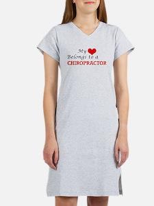 My heart belongs to a Chiroprac Women's Nightshirt
