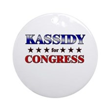 KASSIDY for congress Ornament (Round)