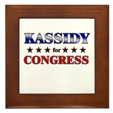 KASSIDY for congress Framed Tile