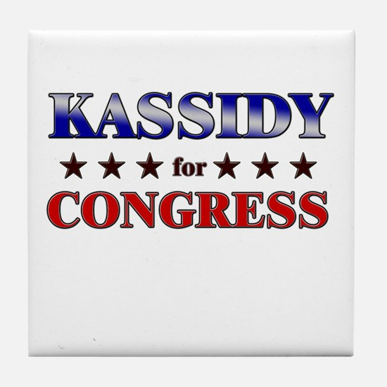 KASSIDY for congress Tile Coaster