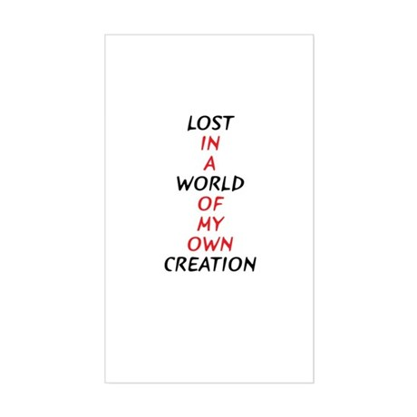 Lost Rectangle Sticker