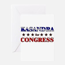 KASANDRA for congress Greeting Card