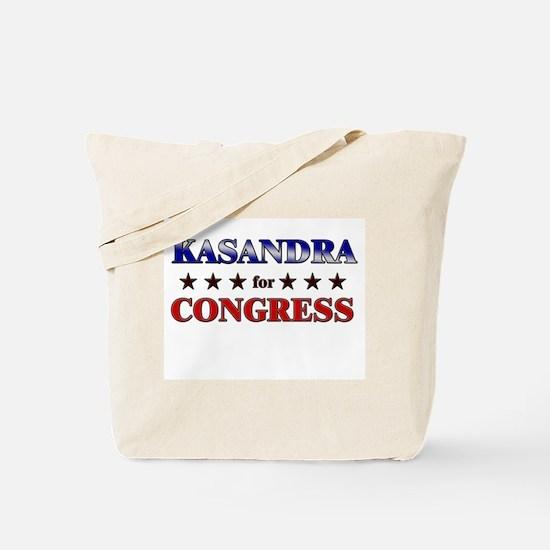 KASANDRA for congress Tote Bag