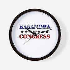KASANDRA for congress Wall Clock