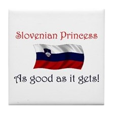 Slovenian Princess Tile Coaster