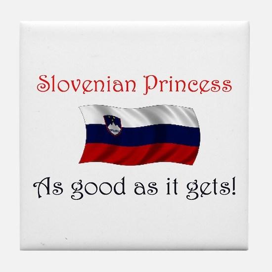 Slovenian Princess Tile Coaster