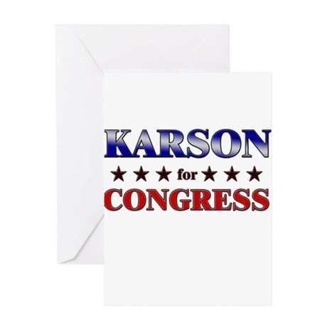 KARSON for congress Greeting Card