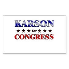 KARSON for congress Rectangle Decal