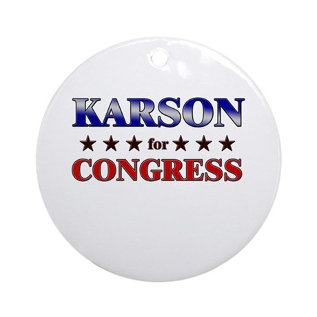 KARSON for congress Ornament (Round)