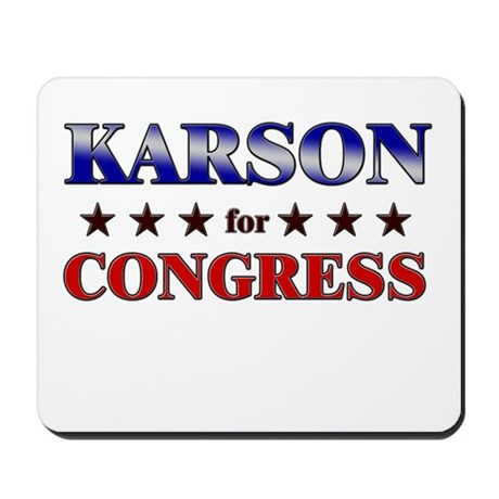 KARSON for congress Mousepad