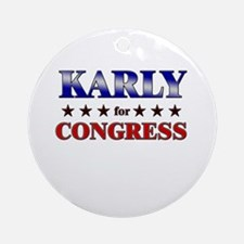 KARLY for congress Ornament (Round)