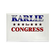 KARLIE for congress Rectangle Magnet