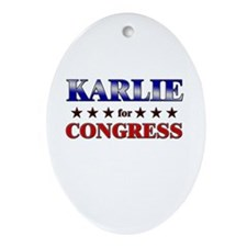 KARLIE for congress Oval Ornament
