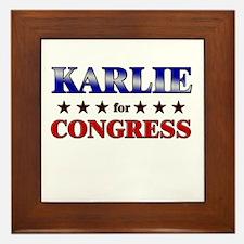 KARLIE for congress Framed Tile